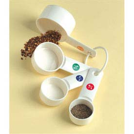 American Metalcraft MCP634 Measuring Cup Set, 1/4, 1/3, 1/2, And 1 Cup, Plastic by