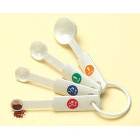 American Metalcraft MSP514 Measuring Spoon Set, 1 Tbl, 1/2 Tbl., 1 Tsp. And 1/2 Tsp.,... by