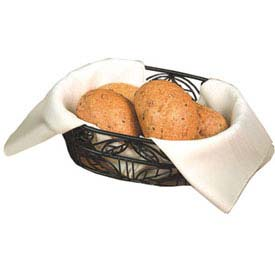 "American Metalcraft OLB9 Bread Basket, 6"" x 9"", Oval, Black Leaf Design by"