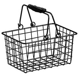 American Metalcraft RBHB975 - Basket W/Double Handle, Rectangular, 9 x 7 x 5, Black Wire