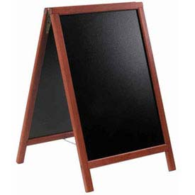 American Metalcraft SBDM85 - Securit Sandwich Board, 22 x 34, Double Sided, Mahogany Frame