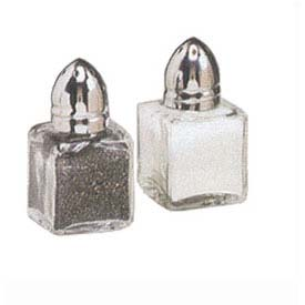"American Metalcraft SP125 Salt/Pepper Shakers, Petite, 1/2 Oz. Cap, 2"" High by"