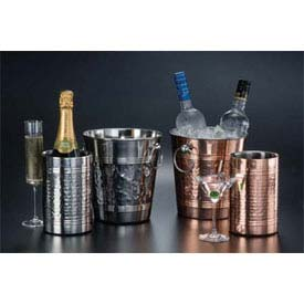 "American Metalcraft SW4C Wine Cooler, 4-3/4""D x 7-1/4""H, Copper Plated, Hammered Finish by"