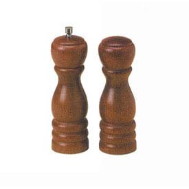 "American Metalcraft WPMS62 Salt/Pepper Mill Set, 6"", Wood, Tempered Steel Grinding... by"