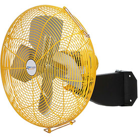 "Airmaster Fan 24"" Beam Mount Yellow Safety Fan - 2 Speed Pull Chain Switch 10204K 1/3 HP 5280 CFM"