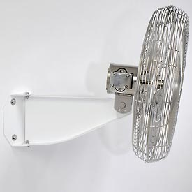 Airmaster 75010 Wall Mount Bracket for Washdown Fans - Epoxy White Coated Finish