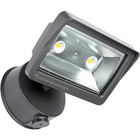 Lithonia OLFL 14 PE BZ M4  LED Security Flood Light, 25W, 120V, 1900 Lumens