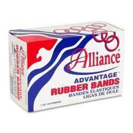 "Alliance® Advantage® Rubber Bands, Size # 10, 1-1/4"" x 1/16"", Natural, 1 lb. Box"