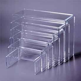 "Plexi ""U"" Riser, Set Of 6, 4""-7"" W, 3/16"" Thickness, Acrylic, Clear - Pkg Qty 25"