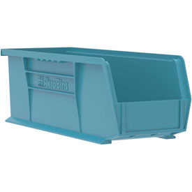 "Akro-Mils Akrobins® Plastic Stacking Bin 30234 - 5-1/2""W X 14-3/4""D X 5""H, Light Blue - Pkg Qty 12"