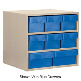 Akro-Mils Super Modular Cabinet AD1817PASTYEL Putty w/ 8 Yellow Akrodrawers 18 x 17 x 16-1/2