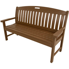 Hanover Avalon All-Weather 60 In. Porch Bench in Teak by