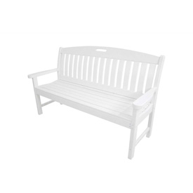 Hanover Avalon All-Weather 60 In. Porch Bench in White by