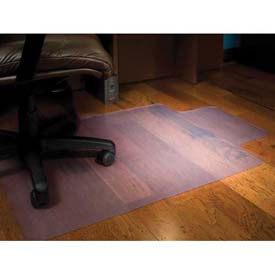"""Aleco® Office Chair Mat for Hard Floor - 36""""W x 48""""L, .110"""" Thick with Lip - Straight Edge"""