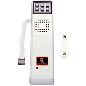 Surface Mounted Door Alarm w/ Keypad - Metallic Silver