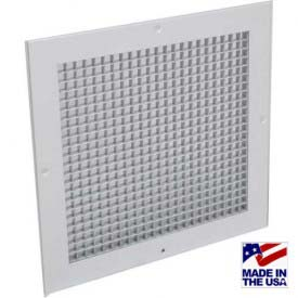 "American Louver Eggcrate Return Grille 1/2"" Cubed Core 10"" x 10"" White 4 Pack"