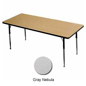"Activity Table - Rectangle - 24"" X 48"", Juvenile Adj. Height, Gray Nebula"