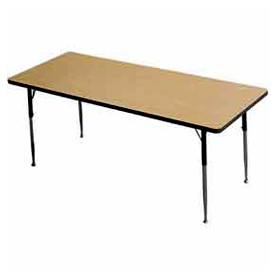 "Activity Table, 24"" X 48"", Rectangle, Juvenile Adj. Height, Light Oak"