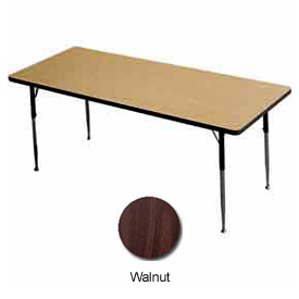 "Activity Table - Rectangle -  24"" X 48"" -  Standard Adj. Height, Walnut"