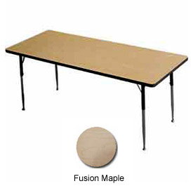 "Activity Table - Rectangle - 30"" X 60"", Standard Adj. Height, Fusion Maple"