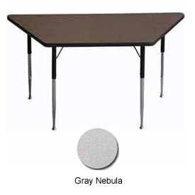 "ADA Activity Table - Trapezoid - 30"" x 30"" x 60"", Adj. Height, Gray Nebula"