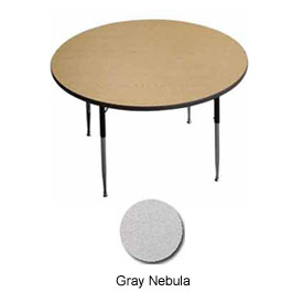 "Activity Table - Round -  36"" Diameter, Juvenile Adj. Height, Gray Nebula"