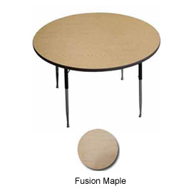 "Activity Table - Round -  42"" Diameter, Juvenile Adj. Height, Fusion Maple"