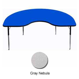 "Activity Table - Kidney - 48"" x 96"", Standard Adj. Height, Gray Nebula"