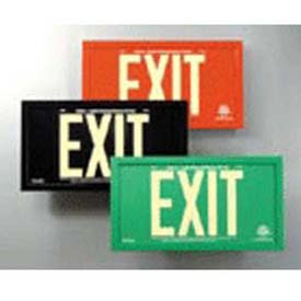 Double-Sided Black Aluminum Exit Sign Inside Black Aluminum Frame