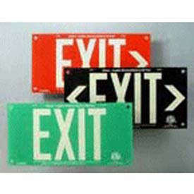 Elegant Black Acrylic EXIT> Sign