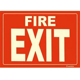 Photoluminescent Fire Exit Rigid PVC Sign, Non-Adhesive