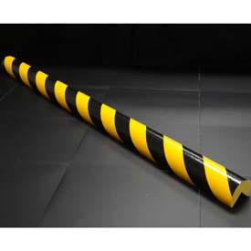 "90-Degree Corner Bumper Guard, Type A+, 39-3/8""L x 2-7/16""W, Yellow/Black"