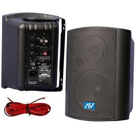 Powered Ceiling/Wall Mount Stereo Speakers