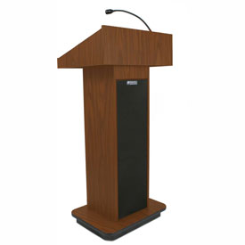 Executive Sound Column Podium / Lectern- Mahogany