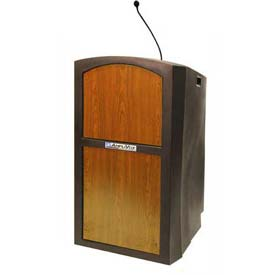 Buy Pinnacle Full Height Podium / Lectern Sound Ready Medium Oak