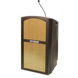 Pinnacle Full Height Podium / Lectern - Sound Ready Maple