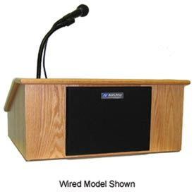 Wireless Victoria Solid Hardwood Tabletop Podium / Lectern - Oak