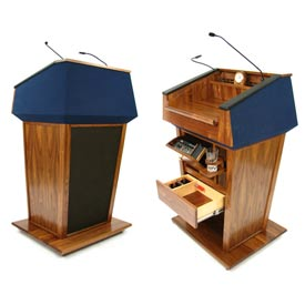 Wireless Patriot Plus Podium / Lectern - Walnut