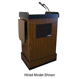 Wireless Multimedia Computer Podium / Lectern - Walnut
