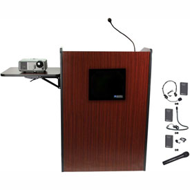 Buy Wireless Multimedia Presentation Plus Podium Mahogany