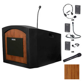 Buy Wireless Pinnacle Tabletop Podium / Lectern Medium Oak