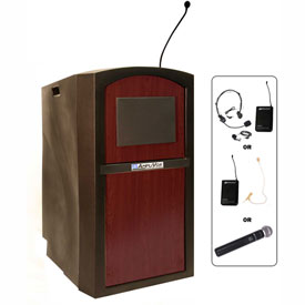 Buy Wireless Pinnacle Full Height Podium / Lectern Mahogany