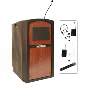 Buy Wireless Pinnacle Full Height Podium / Lectern Cherry