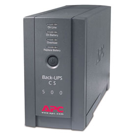 Buy APC BK500BLK Back-UPS CS 500 Black
