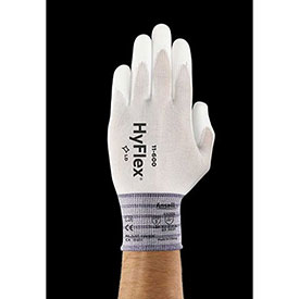 Hyflex Lite Gloves, ANSELL 11-600-8, White, Size 8, 1 Pair - Pkg Qty 12