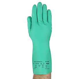 Sol-Vex Unsupported Nitrile Gloves, Ansell 37-145-9, 1-Pair - Pkg Qty 12
