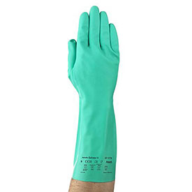 Sol-Vex Unsupported Nitrile Gloves, Ansell 37-175-9, 1-Pair - Pkg Qty 12