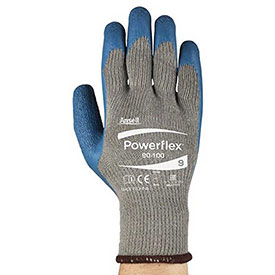 Powerflex Gloves, Ansell 80-100-9, 1-Pair - Pkg Qty 12