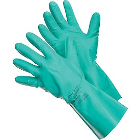 Sol-Vex® II Chemical Resistant Gloves, Ansell 37-646, Nitrile, Straight Cuff, Size 9, 1 Pair - Pkg Qty 12