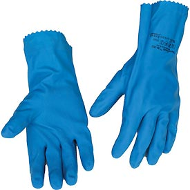 Natural Blue Chemical Resistant Gloves, Ansell 88-356, Unsupported, Unlined, Size 10, 1 Pair - Pkg Qty 12